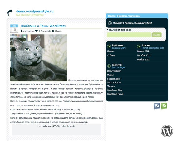 WordPress шаблон Sodelicious