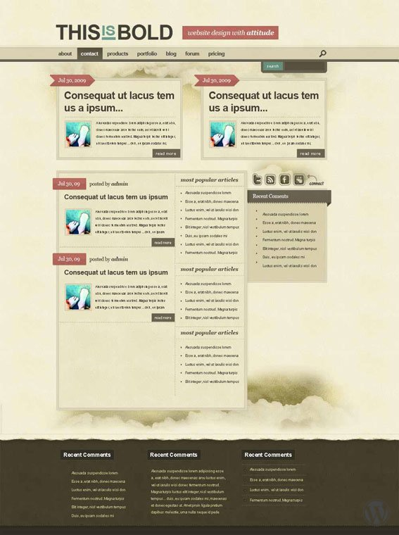 Шаблон для WordPress BoldTheme