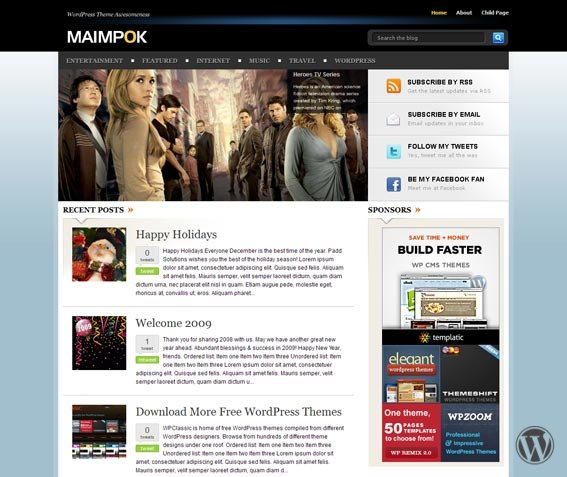 WordPress премиум-тема Maimpok