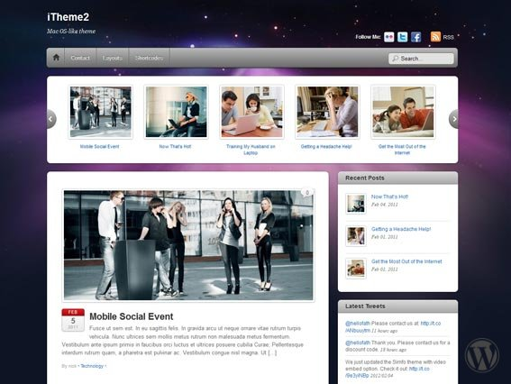 Wordpress шаблон iTheme