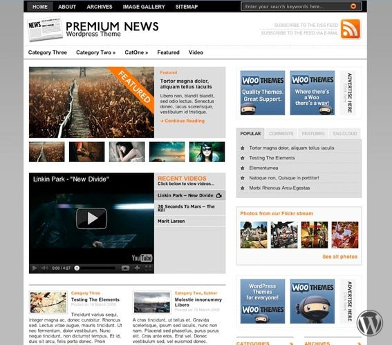 Шаблон WordPress Original Premium News