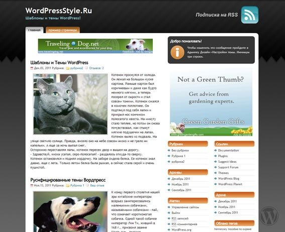 Шаблон WordPress Studio Press Orange