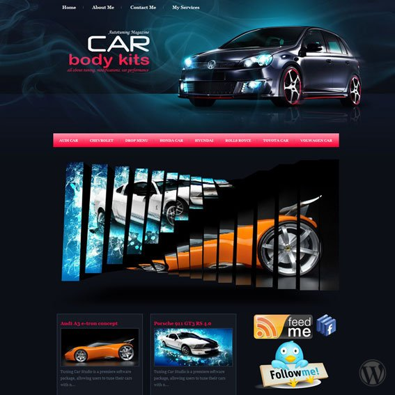 Авто тема WordPress Car Body Kits