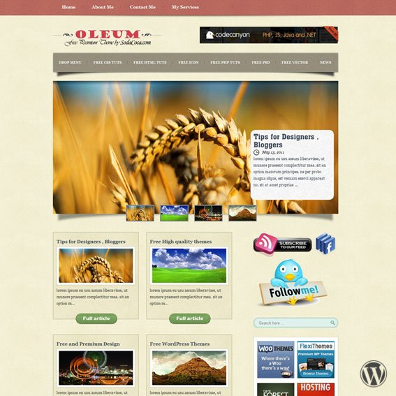 Oleum премиум WordPress шаблон общей тематики
